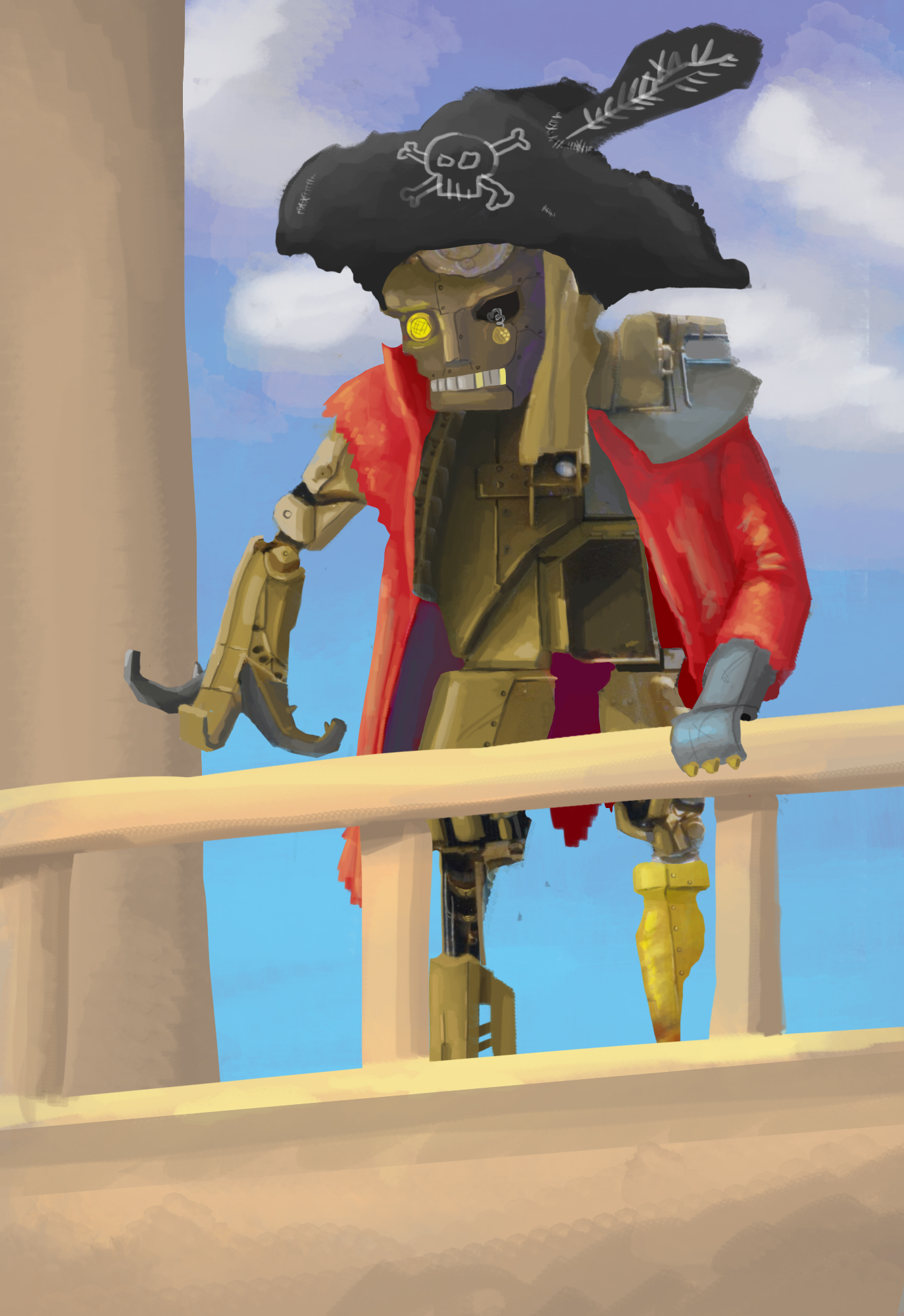 Sad Robot Pirate